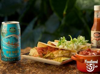 Fish Tacos made with local beer