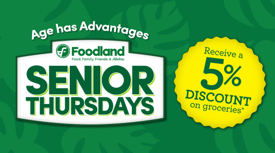 Senior Thursdays 5 Percent Grocery Discount